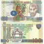 Billete Gambia 100 Dalisis Año 2010 Pajaro Holograma