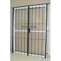 Puerta Reja Abrir Para 120x200 C/ Marco Cerradura Y Llaves