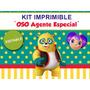 Kit Imprimible Editable Oso Agente Especial, Candy Bar