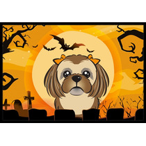Marrón Chocolate De Halloween Shih Tzu Mat Interiores O Ext