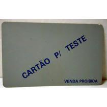 Cartão 1ºs Testes Indutivos Letras Azuis Em Fundo Cinza 91/2