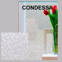 Adesivo Jateado P/ Vidro Box Janelas Condessa Florido 1x1,20