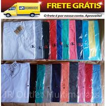 Kit Com 25 Camisetas Várias Marcas Melhor Preço Frete Grátis