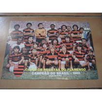 Mini Poster/cartão Flamengo Campeão Barsileiro De 1980