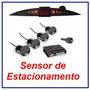 Sensor De Estacionamento Ré 4 Sensores Display Led - Em Bh.