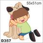 Adesivo Decorativo D357 Melhor Amigo Cão Galinha Pintadinha
