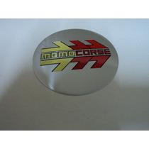 Emblema Momo Corse Adesivo Para Rodas Esportivas 69mm