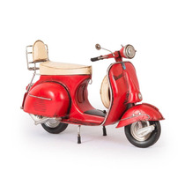 Miniatura Lambreta 1959 Vespa Gs 150 Vermelha Em Ferro