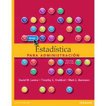 Libro: Estadística Para Administración - David M. L. - Pdf