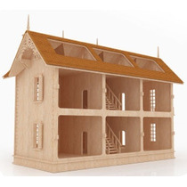 Casa De Muñecas Casa De Mdf Rompecabezas 3d Gmcm017