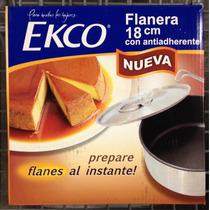 Flanera Ecko Con Antiadherente Y Tapa 18 Ctms Envio Gratis