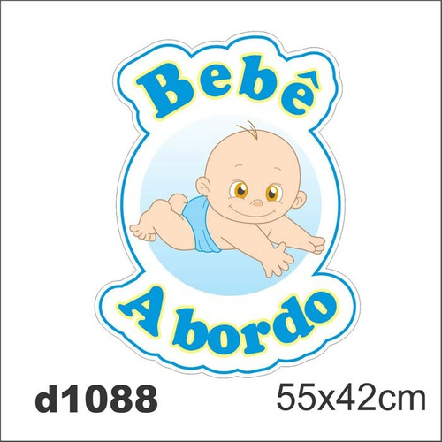 Adesivo d1088 bebe a bordo masculino para carro decorativo for Bordo adesivo decorativo