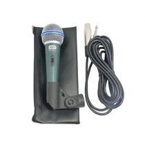 Microfone Profissional + Cabo + Case Tipo Shure Sm57 Sm58