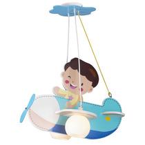 Luminaria Infantil Aviao Azul Quarto De Criança Menino Bebe