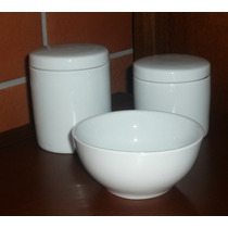 Kit Higiene Molhadeira Porcelana Tigela Bebê Jogo Pote