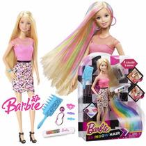 Barbie Peinados Multicolor Nuevo