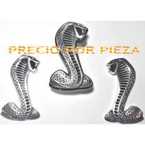 Emblema Cobra Shelby Laterales Y Parrilla Metalico