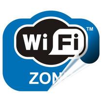 Adesivo Wi Fi Wifi Wi-fi Ambientes Rede Loja Wireless Rln123