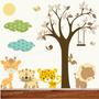 Adesivo Decorativo Parede Safari Infantil Bebe Zoo Trenzinho