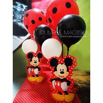 Centro De Mesa Minnie Mickey Deco En Globos