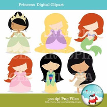 Kit Imprimible Princesas Disney 44 Clipart Imagenes