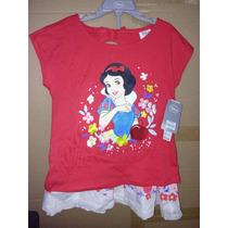Conjunto Falda Y Blusa Bordada Disney Blanca Nieves T 7-8