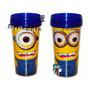 Vaso Con Tapa Cotillones Infantiles Minions Mario Mickey Más