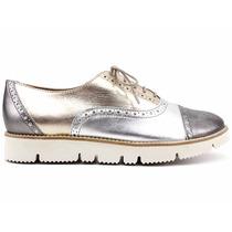 Sapato Feminino Oxford Couro Legítimo Wirth 4716 Loja Pixolé