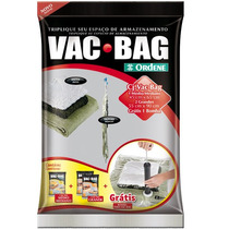 Kit Saco A Vacuo - 1 Médio + 2 Grande + Bomba - Vac Bag