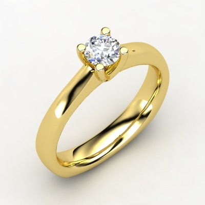 479aaf1fe574d Solitário Ouro Amarelo 18 Quilates!com Pedra De 0,25cts! - R  3.587 ...