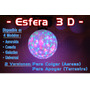 Bola Globo O Esfera 3d - 45 Con Leds Rgb Y Rayos Hi-power
