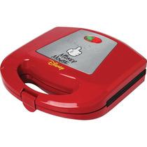 Sanduicheira Elétrica Disney Mickey Vermelha 110v