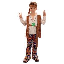 Hippie Disfraz - Niños Extra Grande Hippy 60s 70s De Hallow