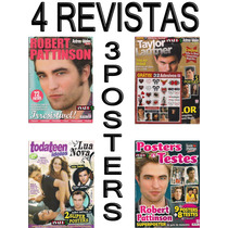 Kit Robert Pattinson Revistas Posters + Adesivos Crepusculo