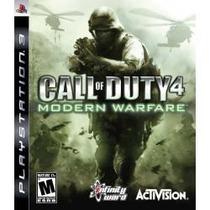 Jogo Midia Fisica Call Of Duty Mw4 Modern Warfare Play Ps3