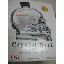 Vodka Crystal Head 1750ml Original (leia O Anuncio)