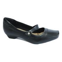 Sapato Boneca Neftali 3703 Em Couro Super Conforto