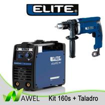 Kit Maquina De Soldar / Elite Arc 160s + Taladro