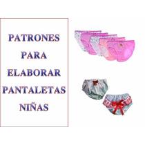 Patrones Moldes Imprimible Pantaleta Cachetero,blumer, Niñas