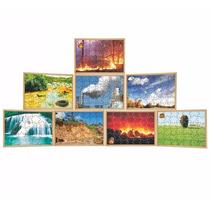 Quebra Cabeça Elementos Da Natureza 8 Jogos 42 Peças Carlu