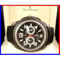 Soberbo Jean Vernier Top 48 Mm Rubber Chronograph Jv001p !!