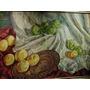 Oleo S/tabla A.b.de Quiros Frutas Y Paños