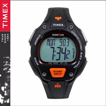 Reloj Hombre Timex Ironman Mod. T5k720- Negro Y Naranja