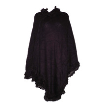 Nueva Capa Poncho Largo Mujer Chal Ensamble Abrigo Tejido