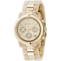 Relógio Michael Kors Mk5139 Original Madre Perola Dourado