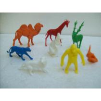 Brinquedo Antigo Gulliver Animais Zoologico Lote C/8-a Ano80