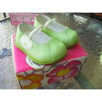Calçado Bebe Infantil Sapato 16 Lilica Ripilica Branco Verde