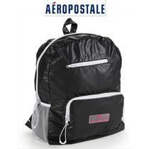 Envio Bolsa Aeropostale Backpack Mochila Negra Live Love Dre