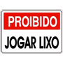 Placa Ps 2mm 40x50cm Proibido Jogar Lixo