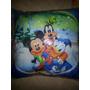 Cojin Cuadrado Para Niños De Mickey Mouse, Goofy Y Donald